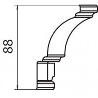 Накладка-угол на карниз верхний Аризона 80х80x88 массив Италия