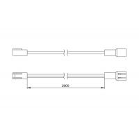 Провод-удлинитель 2000 мм, с коннекторами L822F и L822M