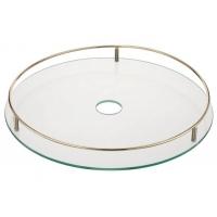 Полка стеклянная центральная d=450 мм, бронза