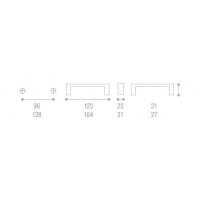 1353A00-21OV Ручка-скоба L=128мм бронза с крепежным комплектом