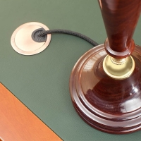 Заглушка для проводки из цинкового сплава, D60, хром