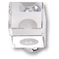 0786-005 25мм Ручка кнопка модерн, пластик глянцевый хром