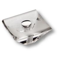 0794-005 Ручка кнопка модерн, пластик глянцевый хром