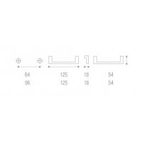1388B00 21OV Ручка-скоба 64мм под бронза без крепежа