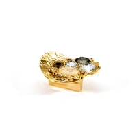 "08.32.MO19 Ручка кнопка ""Core"" эксклюзивная коллекция, глянцевое золото 24K, 32 мм"
