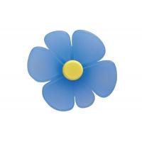 0932AZTRC1 Ручка-кнопка 32 мм, отделка синяя