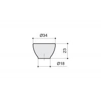 10.816.B94-0404 Ручка-кнопка, отделка транспарент матовый + кремовый