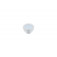 10.816.B94-0419 Ручка-кнопка, отделка транспарент матовый + светло-голубой