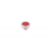 10.816.B94-0472 Ручка-кнопка, отделка транспарент матовый + красный