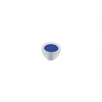 10.816.B94-0473 Ручка-кнопка, отделка транспарент матовый + синий