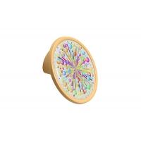 10.823.B0465-111 (Ex 10.823.0032 Ручка-кнопка 32мм, отделка желтый матовый + вставка