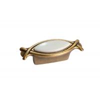 10.825.B25-102 Ручка-кнопка 32мм, отделка бронза античная красная + вставка