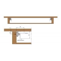 Механизм раздвижения стола Basic Advanced, 850 мм, с синхронизатором и стопором