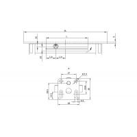 Механизм для вставки стола 500 мм, отделка цинк/серая