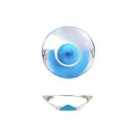 217.896-2400/6604 Ручка-кнопка, отделка транспарент + синий