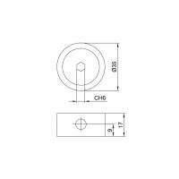 Эксцентрик d.35мм, для стяжки червячной, отделка серая