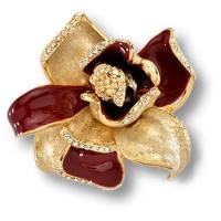 """11.55 MO10 Ручка кнопка """"Magnolia"""" эксклюзивная коллекция, глянцевое золото 24 к"""