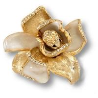 """11.55 MO19 Ручка кнопка """"Magnolia"""" эксклюзивная коллекция, глянцевое золото 24 к"""