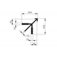 Профиль cоединительный угловой для 19 мм ДСП, L=5000мм, отделка алюминий