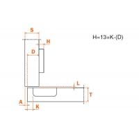 """Петля 94"""" накладная для холодильника (толщина фасада до 32 мм)"""