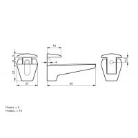 MS0.1427.00CL1  Менсолодержатель, отделка хром глянец