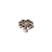 24108(24072)Z0300B.25 Ручка-кнопка Capriccio, d30, Старое серебро, Bosetti Marella