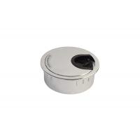 Заглушка кабель-канал, d.60, отделка хром глянец