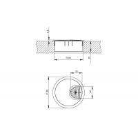 Заглушка кабель-канал, d.60, отделка под алюминий