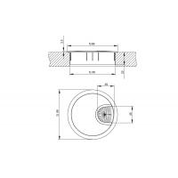 Заглушка кабель-канал, d.80, отделка под алюминий