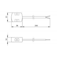 Блок распределительный L803-PC на 4 подключения, с проводом 200 мм