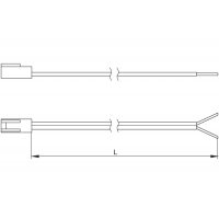 Провод соединительный 2000 мм с коннектором L822M