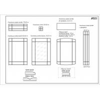 Фрезеровка 055 Техно, фасады МДФ в пленке ПВХ, любые размеры