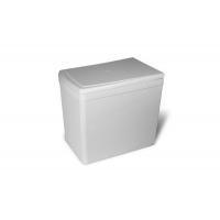 Ведро для мусора (16л), пластик  светло-серый