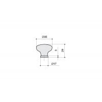 P03.01.208.02 Ручка-кнопка, отделка бронза старая + керамика
