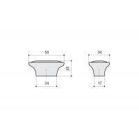 P18.19.174.15 Ручка-кнопка, отделка серебро старое + керамика