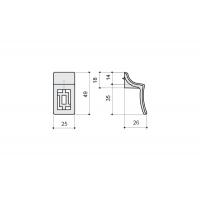 """15086Z0490B.09 Ручка-кнопка, отделка бронза """"Флоренция"""""""