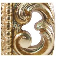 Зеркало ППУ прямоугольное R1076PA 750x950 золото 2 (эмаль)