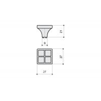24200Z0270N.G32 Ручка-кнопка, отделка никель глянец + шоколад