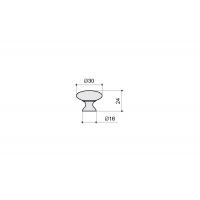 24226Z03000.03 Ручка-кнопка, отделка бронза античная