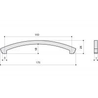CH0101-160.PC Ручка-скоба 160мм, отделка хром глянец + горный хрусталь