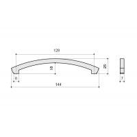 CH0101-128.PC Ручка-скоба 128мм, отделка хром глянец + горный хрусталь
