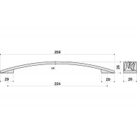 12793.F500 Ручка-скоба 224мм, отделка никель глянец чёрный
