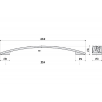 12793.F15S Ручка-скоба 224мм, отделка никель полуглянец