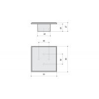 24108.D260 Ручка-скоба 32-32мм, отделка хром глянец