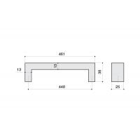 B843-448.NA.28 Ручка-скоба 448мм, отделка сталь нержавеющая
