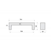 B843-768.NA.28 Ручка-скоба 768мм, отделка сталь нержавеющая