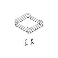 Комплект из 2-х сеток для колонны в базу 450, отделка хром + белый