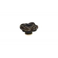 P56.07.M9.06 Ручка-кнопка, отделка керамика черная + золото
