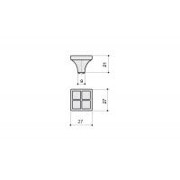 24200Z02700.32 Ручка-кнопка, отделка никель глянец + горный хрусталь