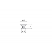 10.827.17 Ручка-кнопка, отделка серебро античное